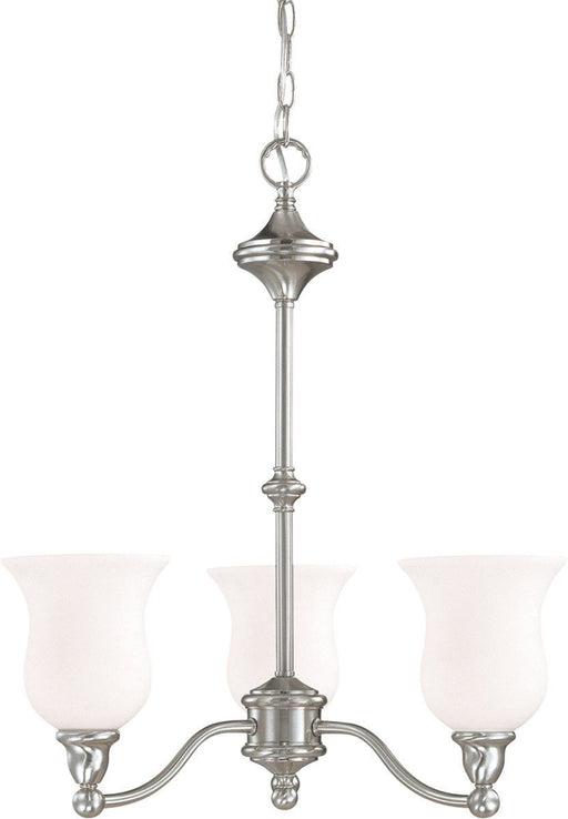 Nuvo Lighting 60-1801 Glenwood Collection Three Light Hanging Chandelier in Brushed Nickel Finish