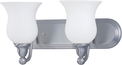 Nuvo Lighting 60-1813 Glenwood Collection Two Light Bath Vanity Wall Mount in Brushed Nickel Finish