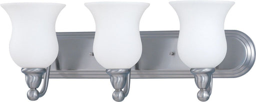 Nuvo Lighting 60-1814 Glenwood Collection Three Light Bath Vanity Wall Mount in Brushed Nickel Finish