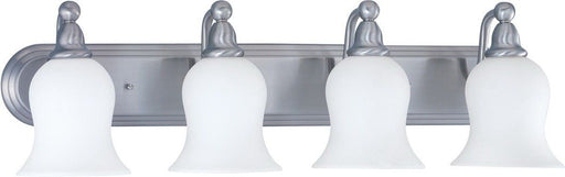 Nuvo Lighting 60-1815 Glenwood Collection Four Light Bath Vanity Wall Mount in Brushed Nickel Finish