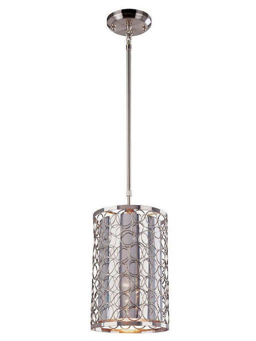 Z-Lite Lighting 185-6 Saatchi Collection One Light Hanging Mini Pendant in Chrome Finish