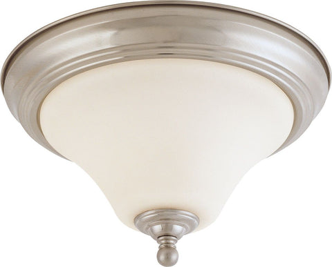 Nuvo Lighting 60-41904 Dupont Collection One Light Energy Star Efficient LED GU24 Flush Ceiling Mount  in Brushed Nickel Finish