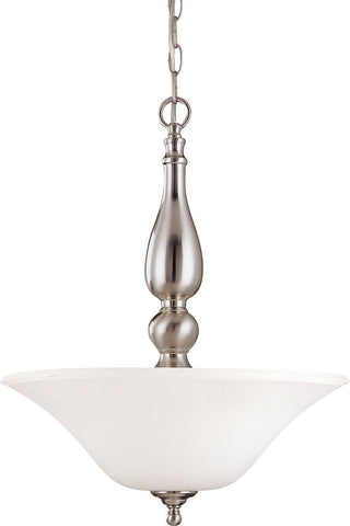 Nuvo Lighting 60-1908 Dupont Collection Three Light Energy Star Efficient GU24 Hanging Pendant in Brushed Nickel Finish