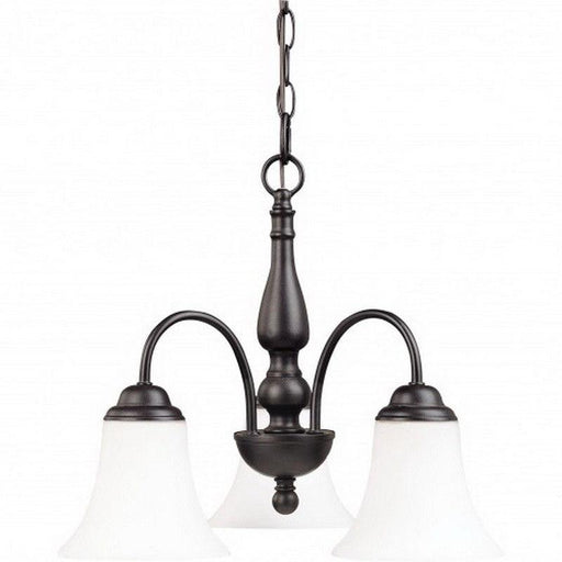 Nuvo Lighting 60-1921 Dupont Collection Three Light Energy Star Efficient GU24 Hanging Chandelier  in Dark Chocolate Finish