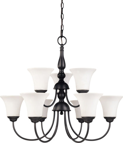 Copy of Nuvo Lighting 60-41923 Dupont Collection Nine Light Energy Star Efficient LED GU24 Hanging Chandelier  in Dark Chocolate Finish