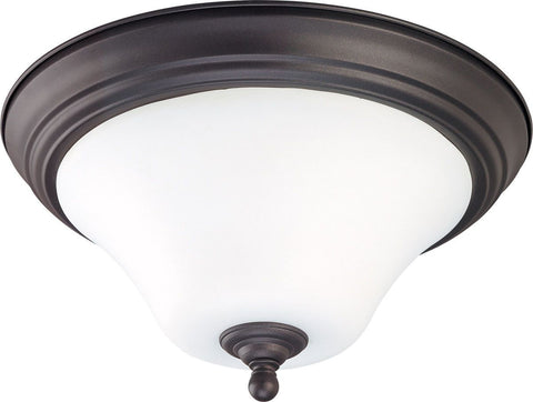 Nuvo Lighting 60-1926 Dupont Collection Two Light Energy Star Efficient GU24 Flush Ceiling Mount  in Dark Chocolate Finish