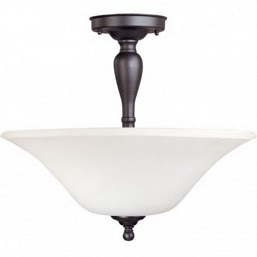 Nuvo Lighting 60-1927 Dupont Collection Three Light Energy Star Efficient GU24 Convertible Semi Flush or Hanging Pendant  in Dark Chocolate Finish