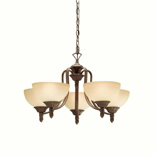 Kichler Lighting 1976 TZ Five Light Chandelier in Tannery Bronze Finish