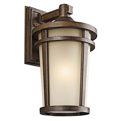 Kichler Lighting 49073BSTFT-LED Atwood Collection One Light Energy Saving Exterior Outdoor Wall Lantern in Brownstone Finish