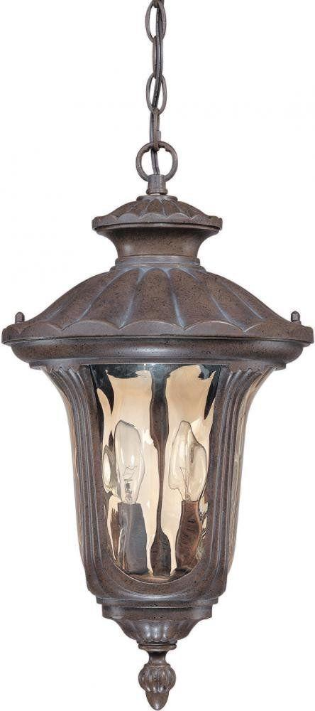 Nuvo Lighting 60-2008 Beaumont Collection Two Light Exterior Outdoor Wall Lantern in Fruitwood Finish