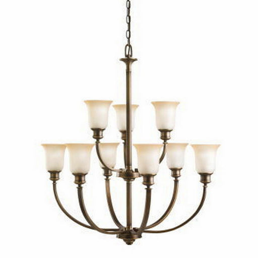 Kichler Lighting 2039 VNB Stanton Park Collection Nine Light Hanging Chandelier in Vintage Natural Brass Finish
