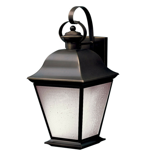 Kichler Lighting 10909OZ-LED Mount Vernon Collection One Light LED Exterior Outdoor Wall Lantern in Olde Bronze Finish