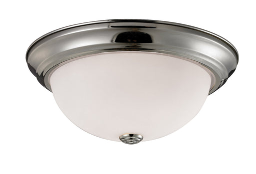 Z-Lite Lighting 2109F3 Athena Collection Three Light Ceiling Flush Mount in Brushed Nickel Finish