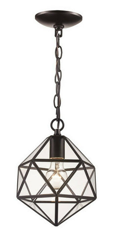 Trans Globe Lighting PND-2113 One Light Diamond Mini Pendant Chandelier in Brown Finish
