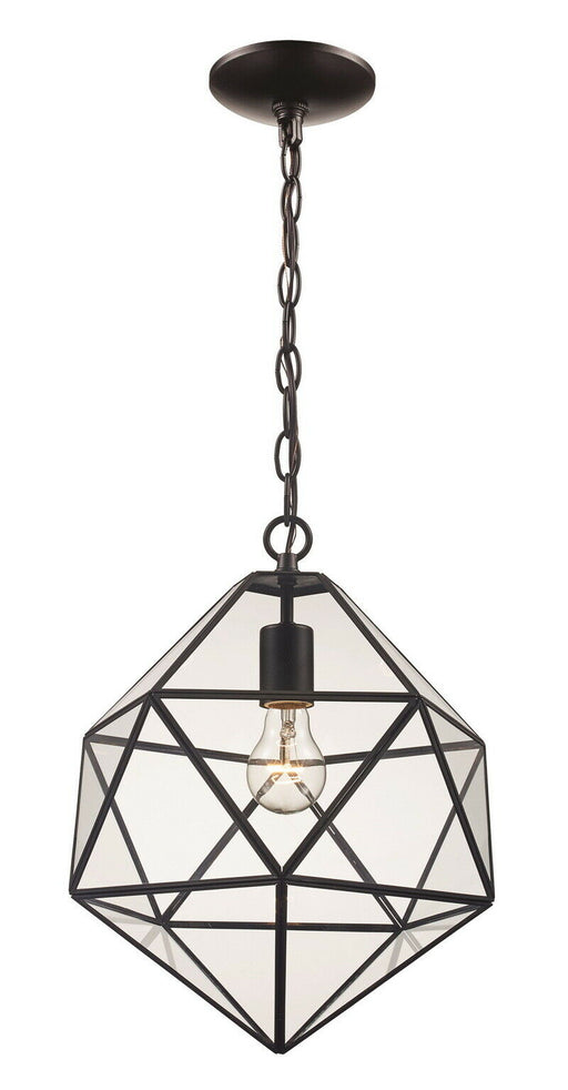 Trans Globe Lighting PND-2114 One Light Diamond Pendant Chandelier in Brown Finish