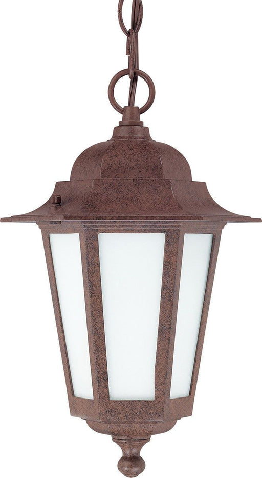 Nuvo Lighting 60-2208 Cornerstone Collection One Light Exterior Outdoor Hanging Pendant Lantern in Old Bronze Finish