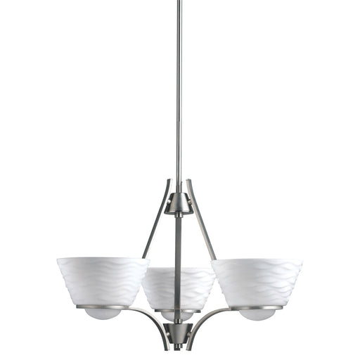 Aztec by Kichler Lighting 34964 Three Light Daphne Collection Hanging Chandelier in Brushed Nickel Finish