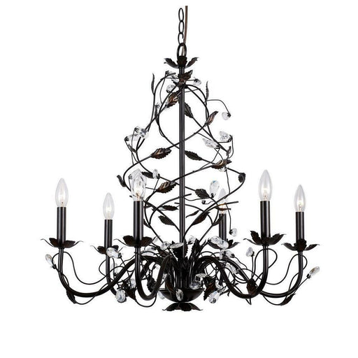 Aztec 236752 by Kichler Lighting Six Light Hanging Chandelier in Oil Rubbed Bronze Finish