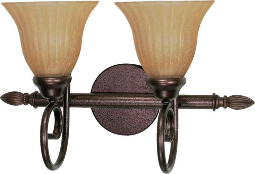 Nuvo Lighting 60-2412 Moulan Collection Two Light Energy Saving Fluorescent Bath Wall Sconce in Copper Bronze Finish