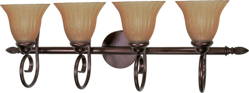 Nuvo Lighting 60-2414 Moulan Collection Four Light Energy Saving Fluorescent Bath Wall Sconce in Copper Bronze Finish