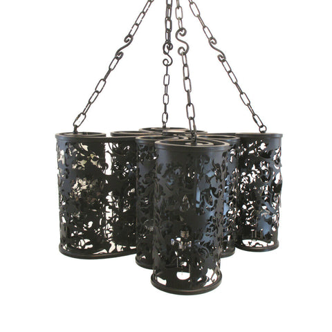 Kalco Lighting B2539 EB Ophelia Collection Eight Light Pendant Chandelier in Black Ebony Finish