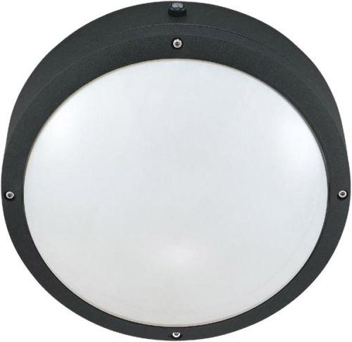 Nuvo Lighting 60-2541 Hudson Collection Two Light Energy Efficient GU24 Exterior Outdoor Wall or Ceiling Fixture in Matte Black Finish