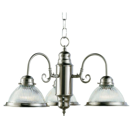 Rainbow EVER 2573 BN Three Light Hanging Chandelier in Brushed Nickel Finish