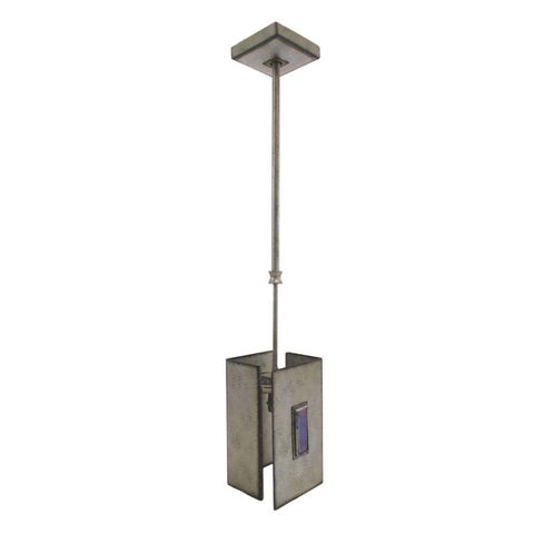 Kalco Lighting 2627 SV One Light Hanging Mini Pendant in Aged Silver Finish - Discount Lighting Fixtures