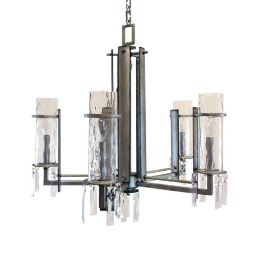 Kalco Lighting 2659 SV Ashmore Collection Five Light Chandelier in Aged Silver Finish