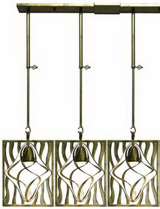 Kalco Lighting 2696-2HB Oxford Collection Three Light Island Pendant Chandelier in Heirloom Bronze Finish - Quality Discount Lighting