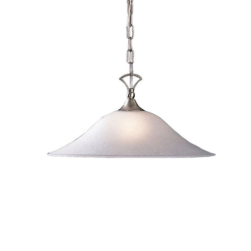Kichler Lighting 2702 NI Hastings Collection One Light Hanging Pendant in Brushed Nickel Finish