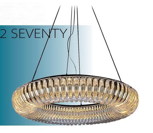 Nuvo Lighting Geocentric 62-271 Two Seventy Series Hanging Suspended Circular LED Luminaire in Polished Chrome Finish - Quality Discount Lighting