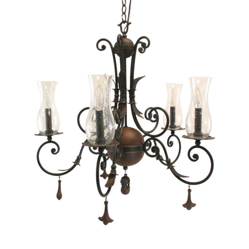 Kalco Lighting 2745 AC Bilston Collection Five Light Chandelier in Antique Copper Finish
