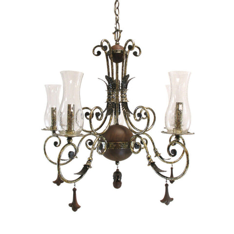 Kalco Lighting 2745 AS Bilston Collection Five Light Chandelier in Antique Silver Finish
