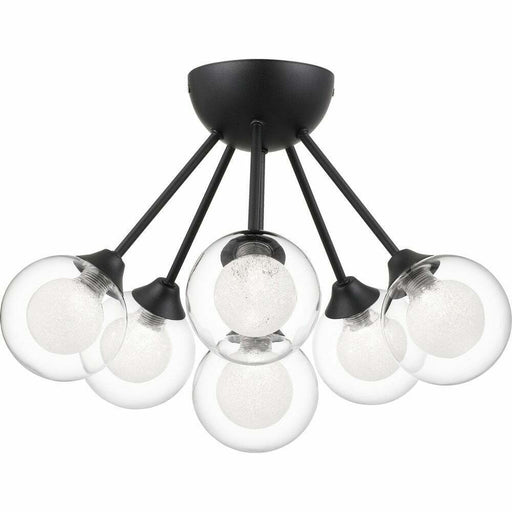 Quoizel Lighting ASH27684J1  Cades Collection Six Light Semi Flush Ceiling Light in Earth Black Finish