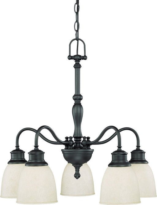 Nuvo Lighting 60-2778 Bella Collection Five Light Hanging Chandelier in Aged Bronze Finish
