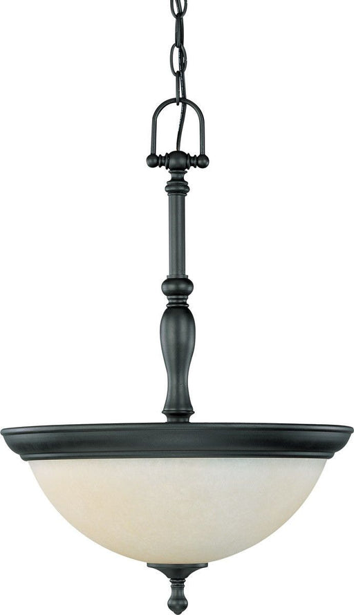 Nuvo Lighting 60-2783 Bella Collection Three Light Hanging Chandelier in Aged Bronze Finish