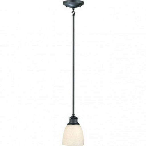 Nuvo Lighting 60-2785 Bella Collection One Light Hanging Mini Pendant in Aged Bronze Finish