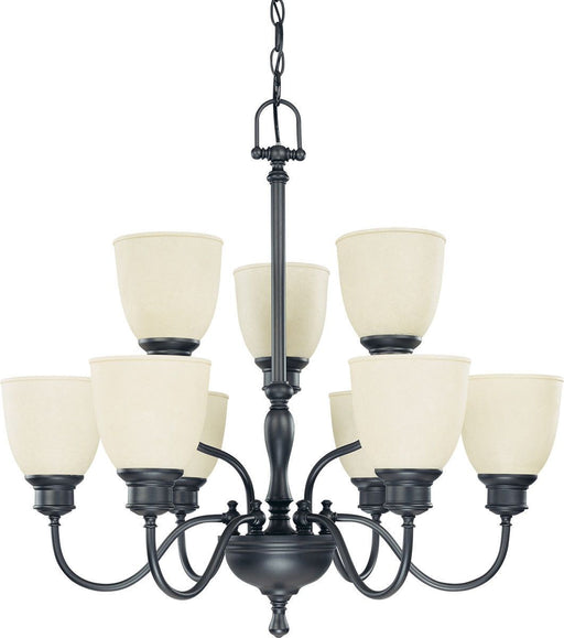 Nuvo Lighting 60-2781 Bella Collection Nine Light Hanging Chandelier in Aged Bronze Finish