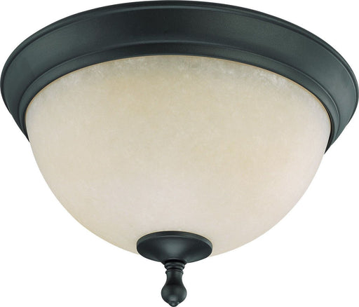 Nuvo Lighting 60-2792 Bella Collection Two Light Flush Ceiling in Aged Bronze Finish