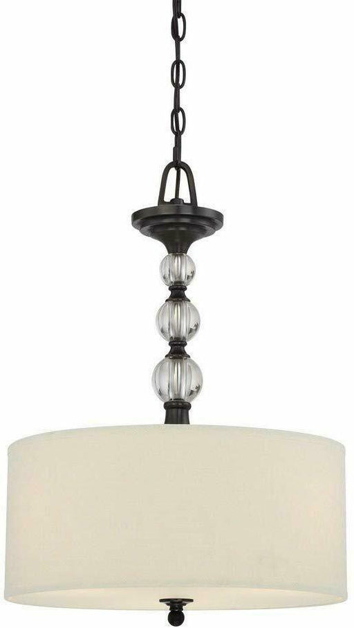 Quoizel Lighting DW2817D Downtown Collection Three Light Pendant Chandelier in Dusk Bronze Finish