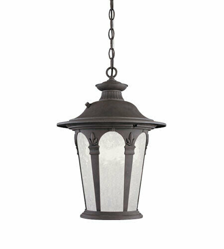 Designers Fountain Lighting ES2844-AG Energy Efficient Fluorescent Exterior Outdoor Hanging Pendant Lantern in Antique Gold Finish