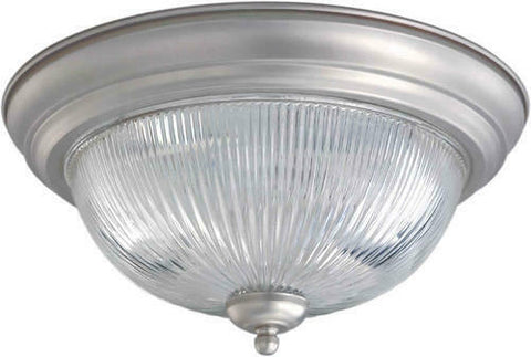 Rainbow EVER 2911 BN One Light Flush Ceiling Mount in Brushed Nickel Finish