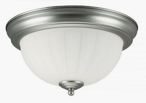 Rainbow EVER 2918 BN Two Light Flush Ceiling Mount in Brushed Nickel Finish