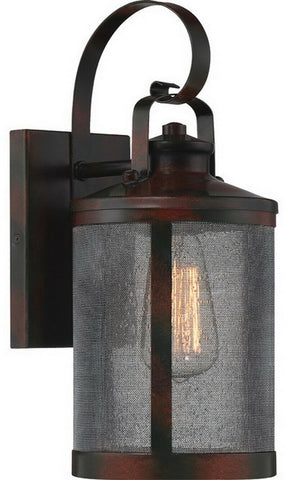 Quoizel Lighting ASH292696B Landwin Collection One Light Outdoor Exterior Wall Lantern in Valiant Bronze Finish