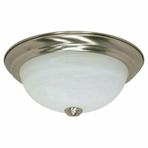 Rainbow EVER 2926 BN One Light Flush Ceiling Mount in Brushed Nickel Finish