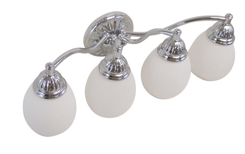 Vaxcel Lighting VL29374 CH Four Light Bath Vanity Wall Mount in Polished Chrome Finish