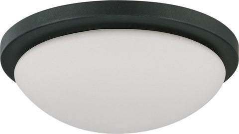 Nuvo Lighting 60-2942 Button Collection One Light Energy Star Efficient GU24 Flush Ceiling in Aged Bronze Finish