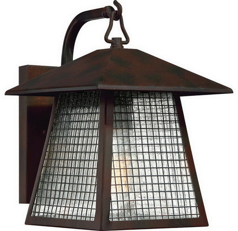 Quoizel Lighting ASH29551B One Light Outdoor Exterior Wall Lantern in Valiant Bronze Finish