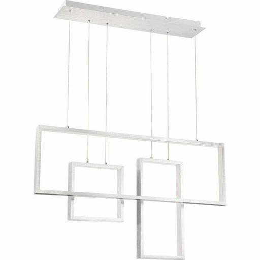 Quoizel Lighting ASH29637C Integrated LED Hanging Linear Pendant Chandelier in Brushed Aluminum Finish